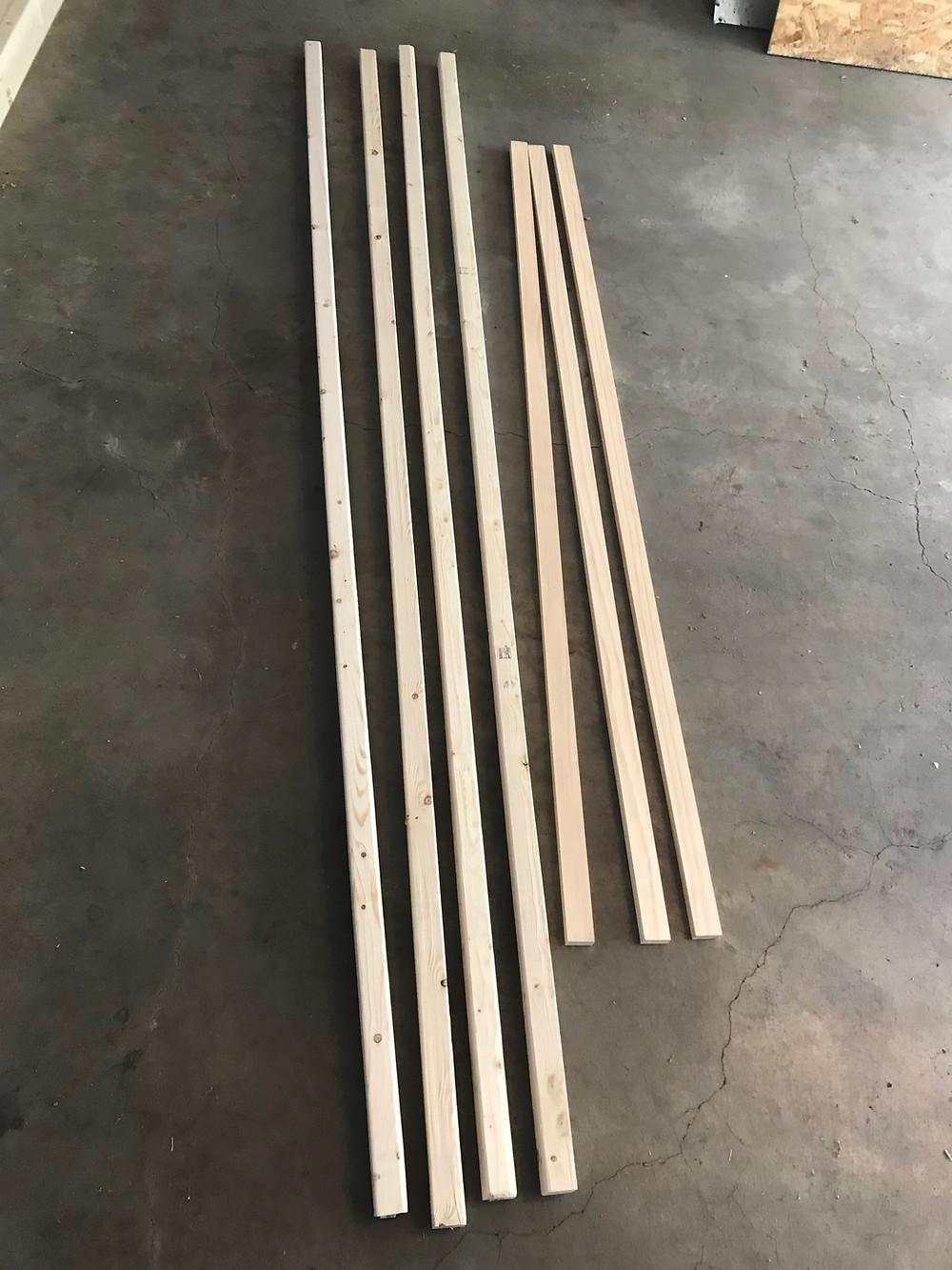 wooden garden obelisk lumber