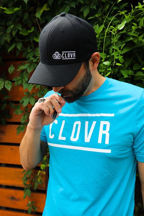 Black Clovr Curved Snapback