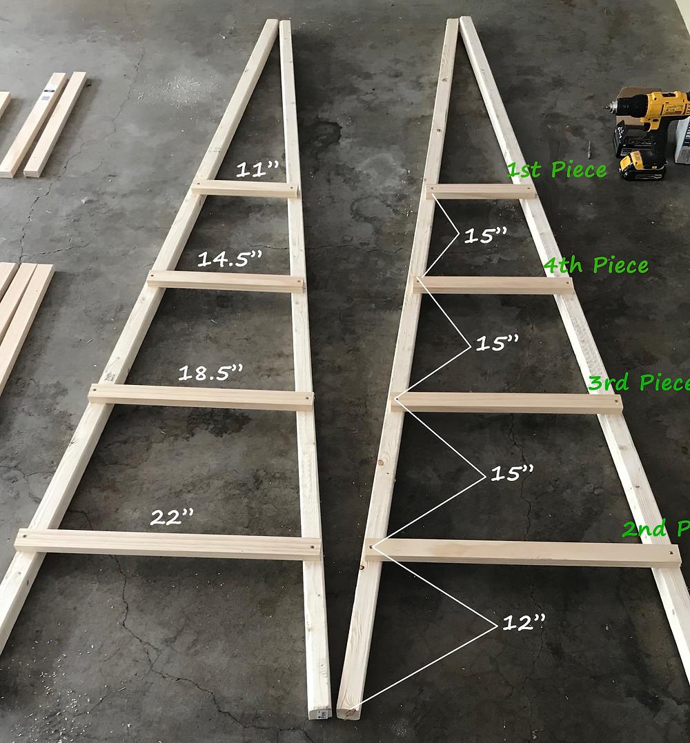 wooden garden obelisk measurements and spacing