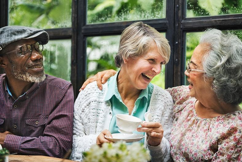 Seniors in Hershey PA Having Coffee