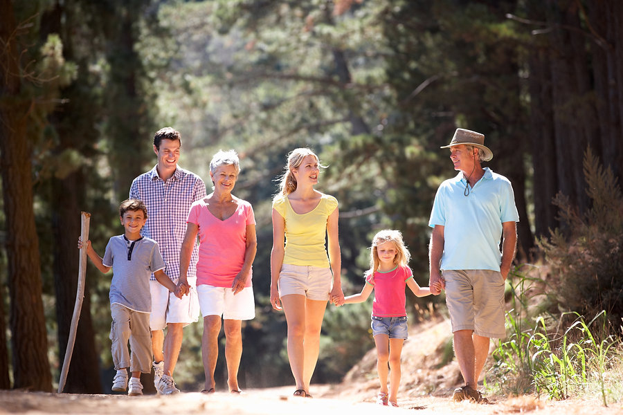 Clients of Go Comprehensive enjoying retirement with their family