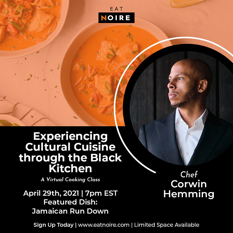 Virtual Class: Cooking with Chef Corwin Hemming