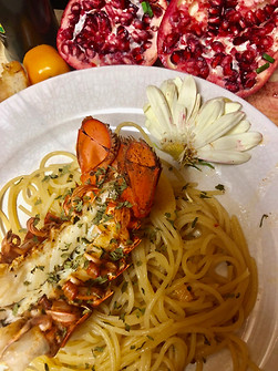 Old Bay Lobster + White Wine Pasta