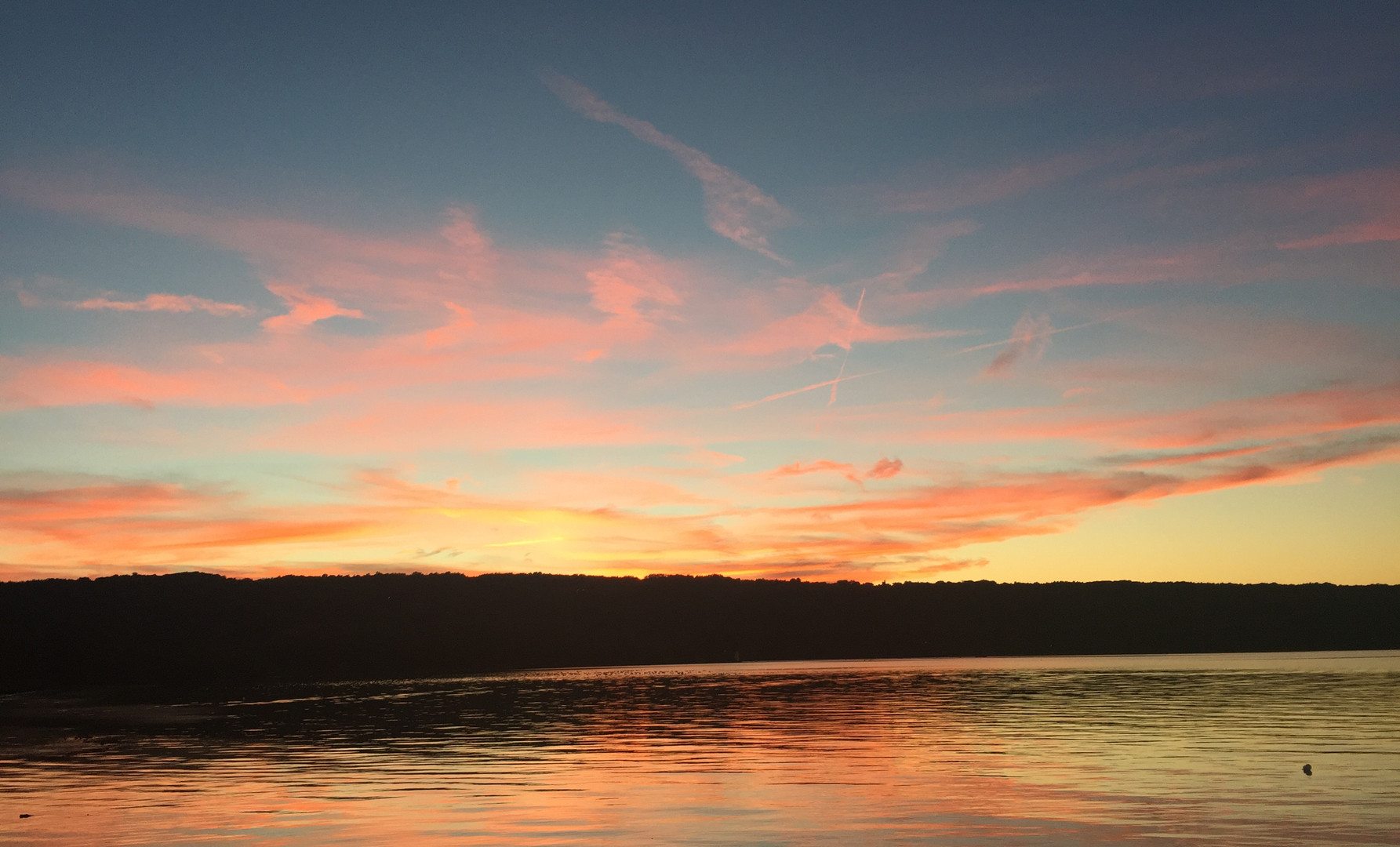 Sunset over Cayuga Lake, Ithaca, New York