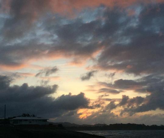 Sunset at Lāʻie Point State Wayside, O'ahu, Hawai'i