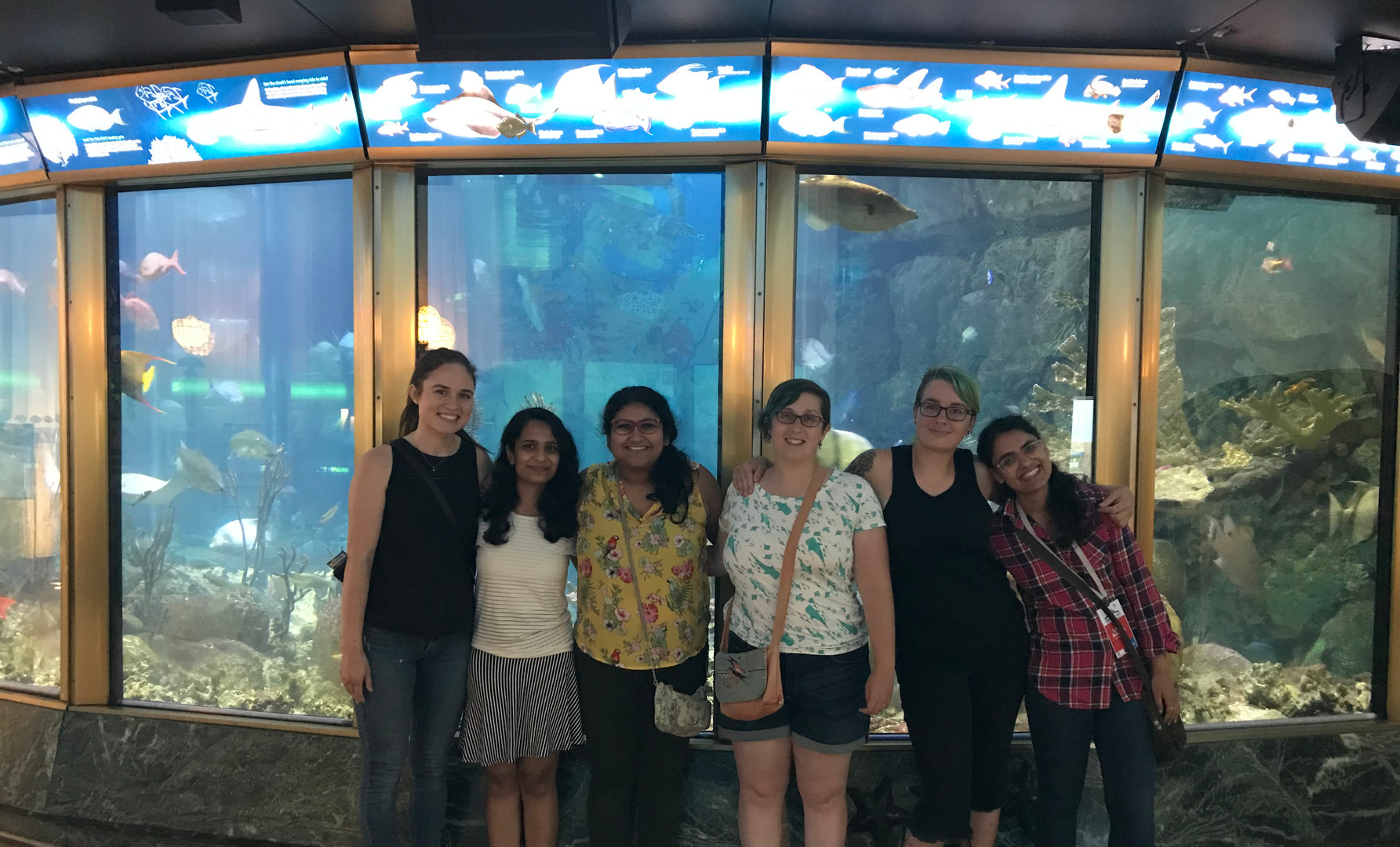 The EEB gang at the Shedd Aquarium