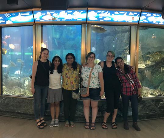 The EEB gang at the Shedd Aquarium