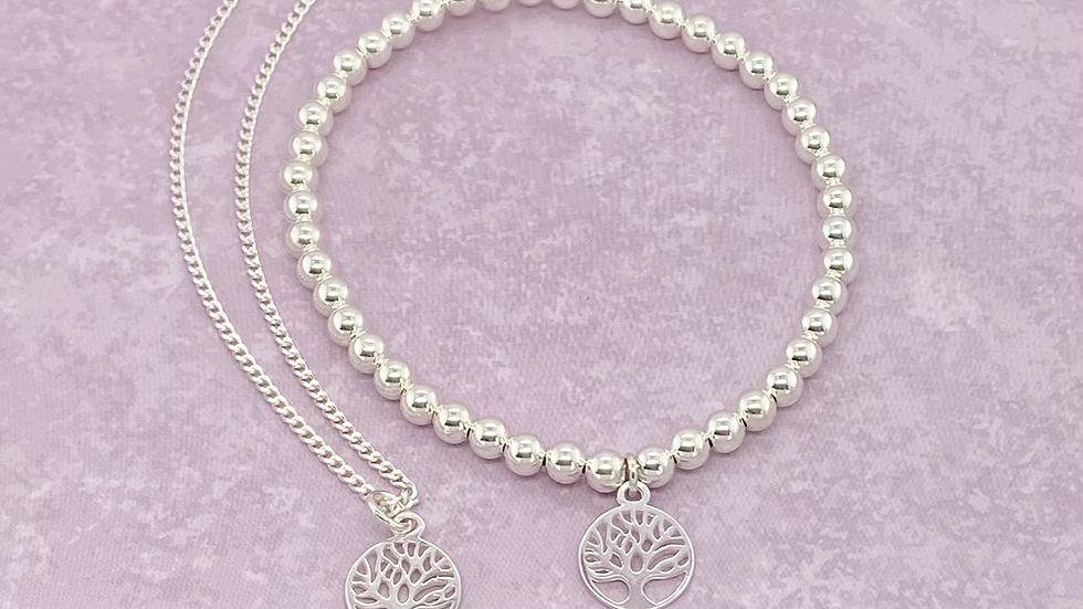 FJ Tree of Life necklace and bracelet