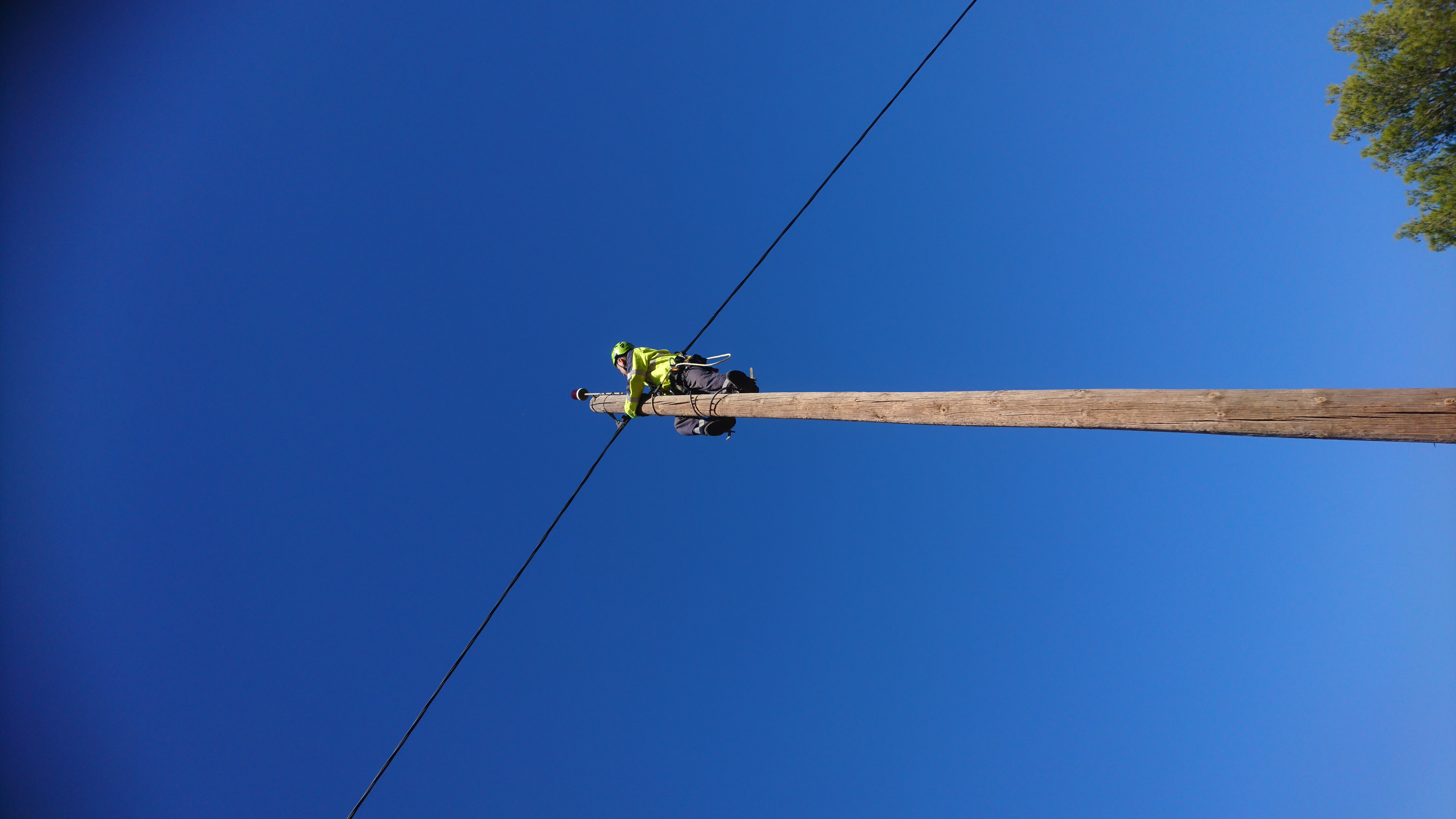 Formation travail en hauteur poteaux