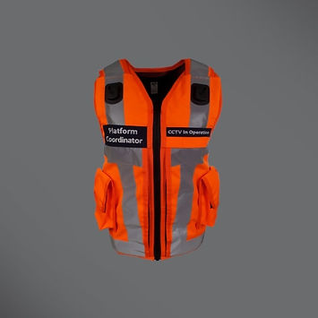Rail platform equipment vest