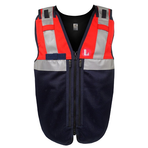 Red X-Form Equipment Vest Reflective Tape