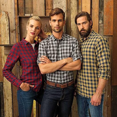 Mulligan Check Cotton Long Sleeve Shirt Mens