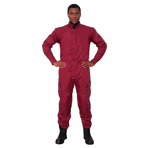 Fire Retardant Maroon Coveralls