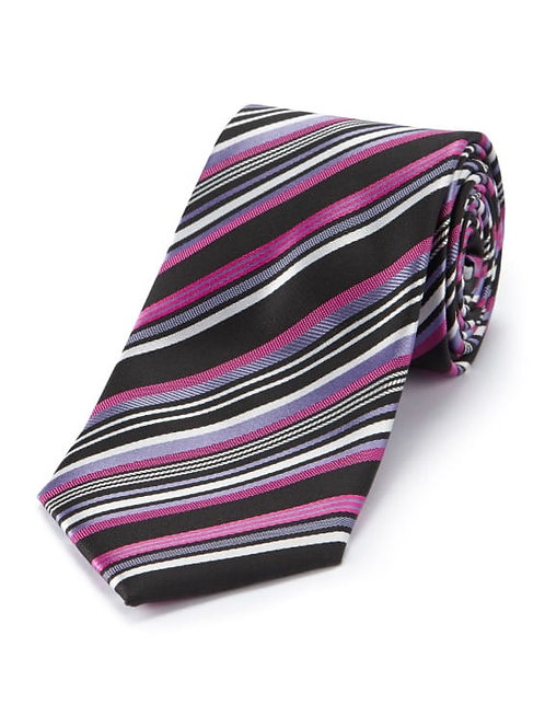 Derby College Lilac and Fuchsia Mens Tie