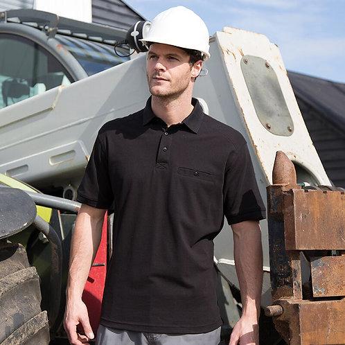 Work Polo Shirt S/Sleeve Mens Apex Pocket