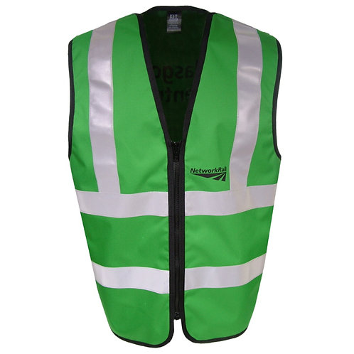 Green Reflective Tabard Work Vest