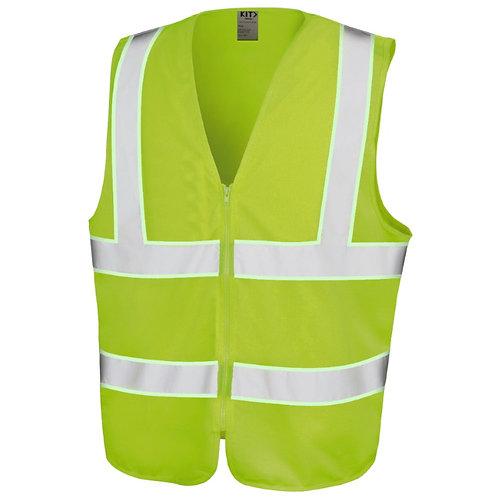 Hi-Viz Yellow Tabard Vest With Glow In The Dark Tape