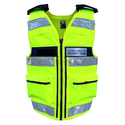 Security Guard Equipment Vest (Hi-Viz Yellow)