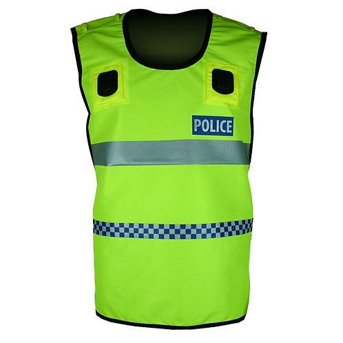 Hi-Viz Yellow Tabard Check and Reflective Vest