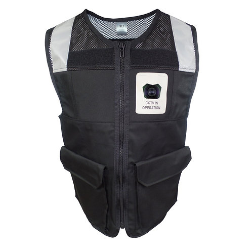 Camera Vest with Reflective Tape and Pockets