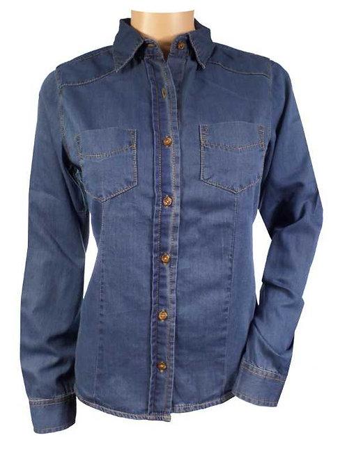 Premium Bespoke Long Sleeve Denim Shirt | Style Uniforms