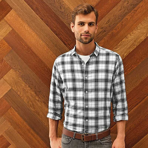 Ginmill Check Cotton Long Sleeve Shirt Mens