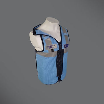 Rail safety equipment vest
