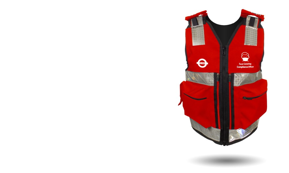 Rail Face Mask Compliance Officer Equipment Vest
