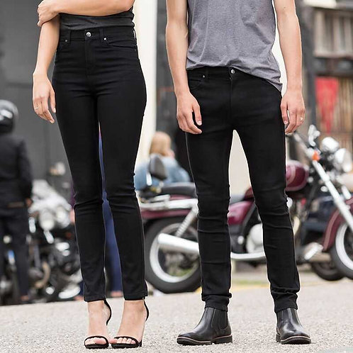 Skinny Fit Black Jeans Trousers Mens