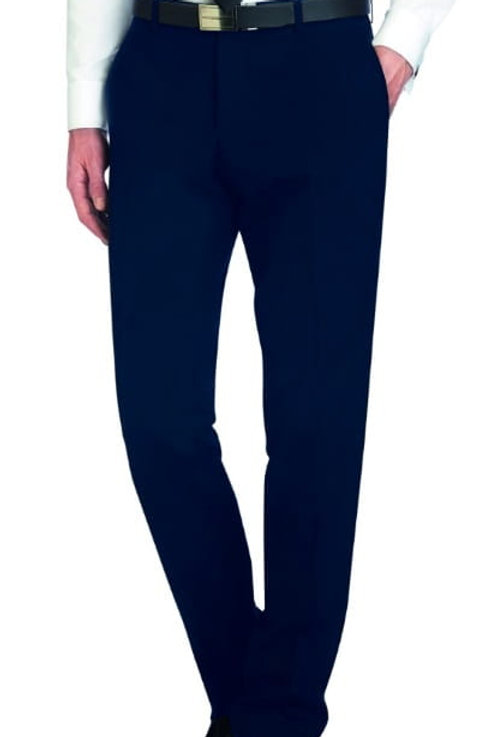 Derby College Mens Suit Trousers Navy