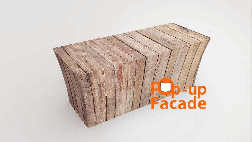 Verticle Wood Scrim Table Cover