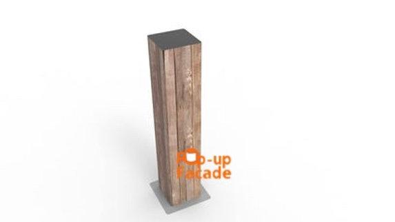 Vertical Wood Totem Scrim
