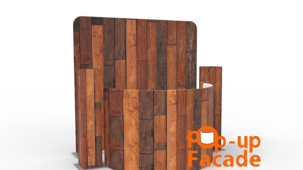 Dark Wood Pop Up Facade Full Set