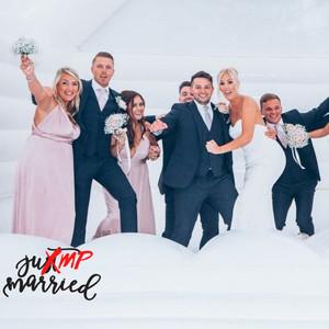 Jump Married, white wedding bounce house, wedding bounce house