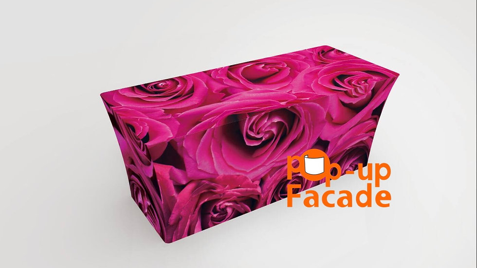 Pink Roses Scrim Table Cover