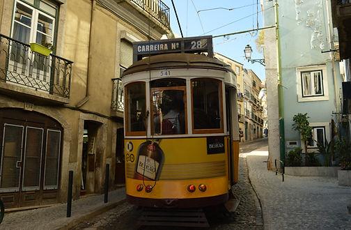 Straßenbahn 28 in Lissabon