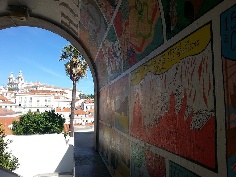Sicht auf das Kloster São Vicente de Fora
