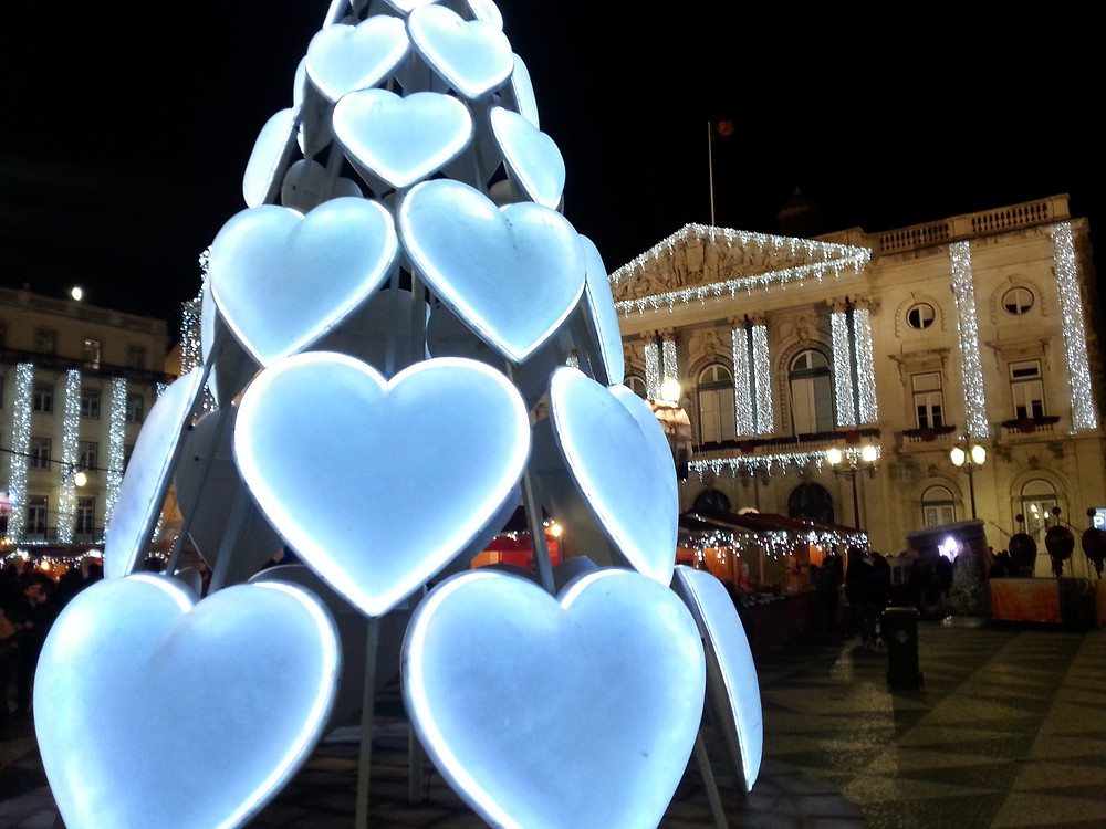 Weihnachtsbeleuchtung in Lissabon