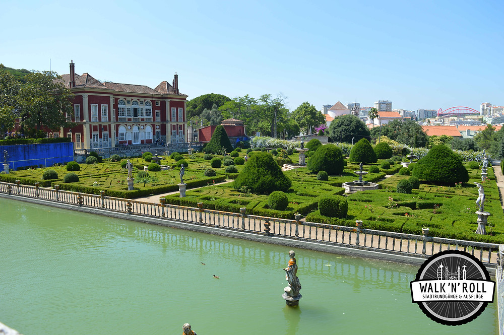 Palastgarten in Lissabon