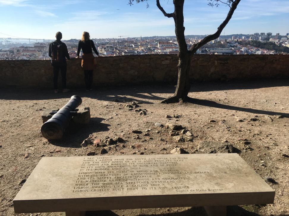 Aussicht vom Castelo de São Jorge in Lissabon