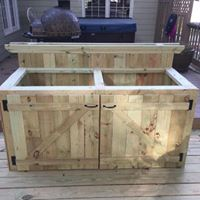 custom built outdoor kitchen cabinet