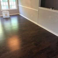 hardwood floor install after