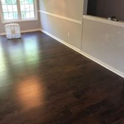 hardwood floor install after
