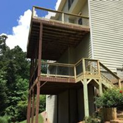 double deck repair and stair insatll