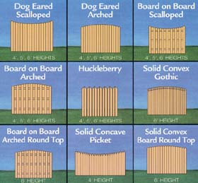 fence picket variations