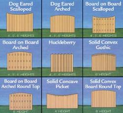 fence picket variations