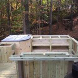 custom built outdoor kitchen cabinet