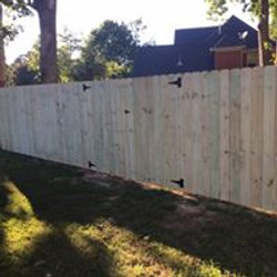 large privacy fence
