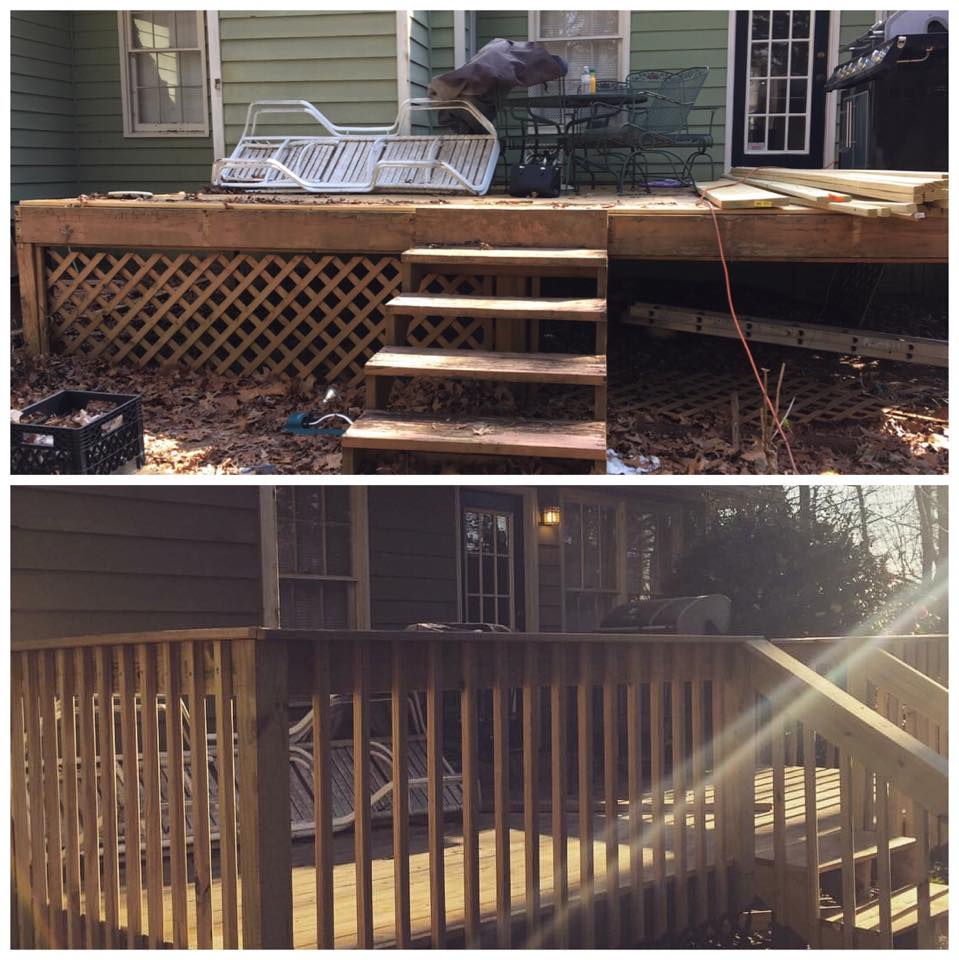 before and after small deck