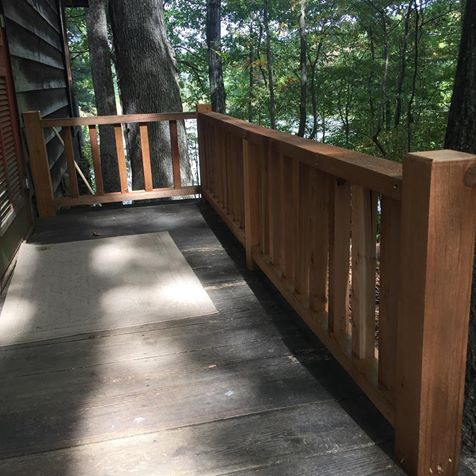 replaced cedar railing